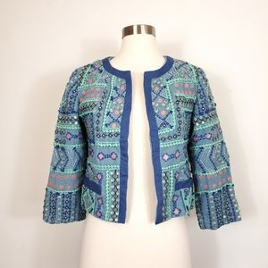bl-nk Anthropologie beaded embellished art to wear